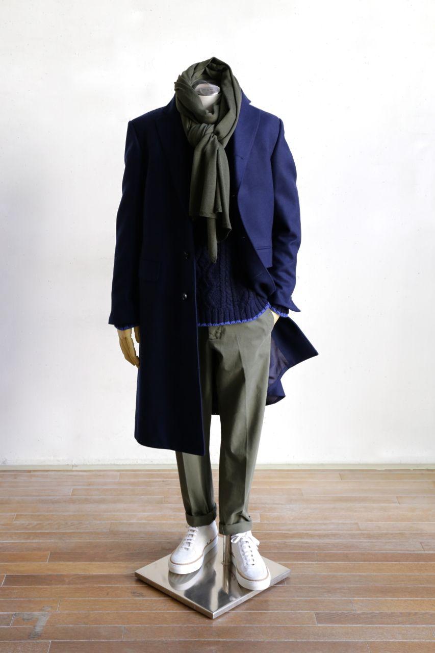 Coat   08sircus    Knit   08sircus     Stall   Comme des Garcons Homme Deux    Pants   AMI Alexandre Mattiussi    Shoes   Number 288