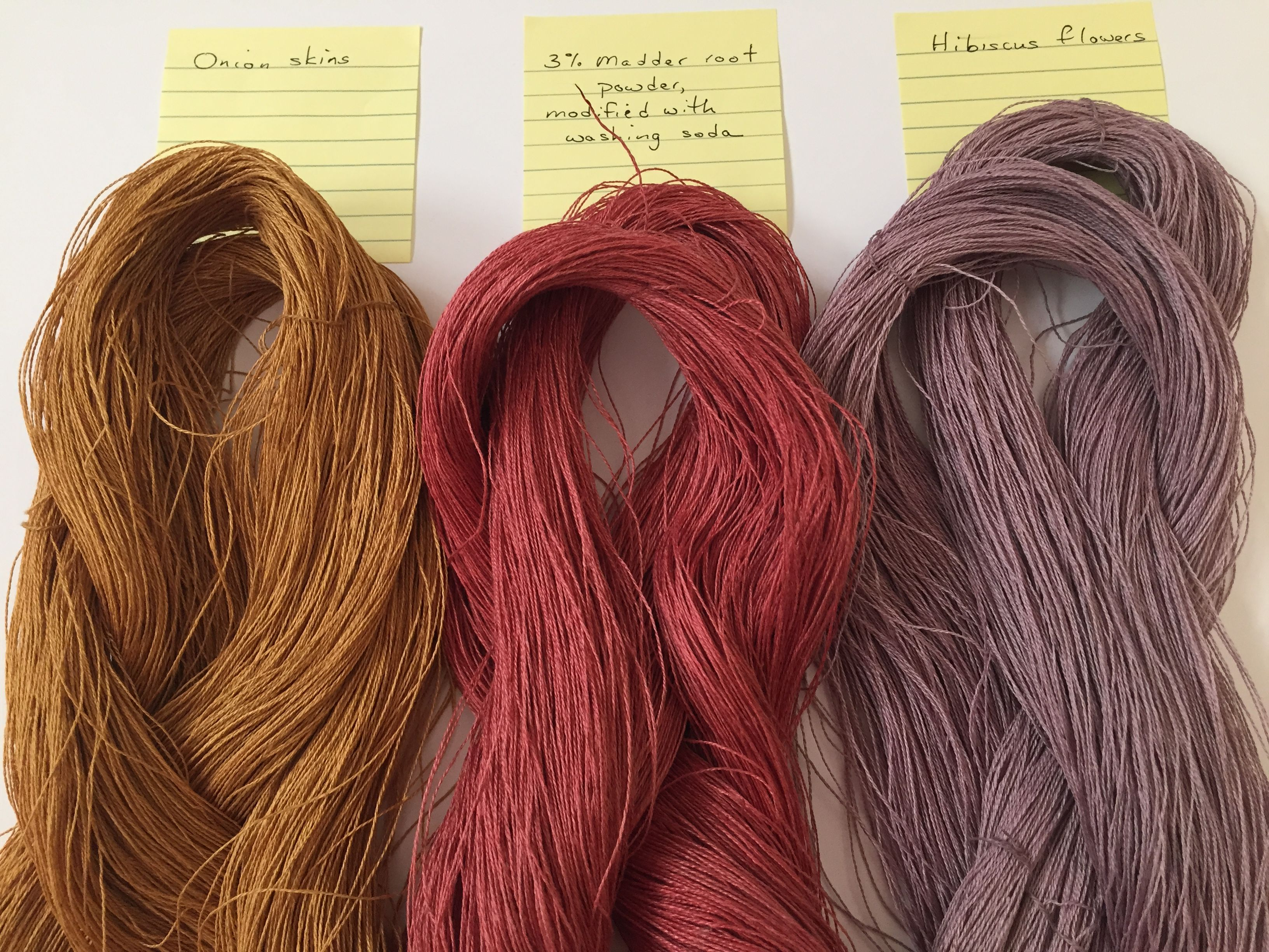 Barbara Pickel Linen Yarn Dyed With Onion Skins Madder