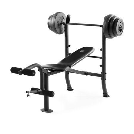 Gold S Gym Xr 8 1 Combo Weight Bench With 100 Lb Vinyl Weight Set Walmart Com Weight Benches Weight Bench Set Weight Set