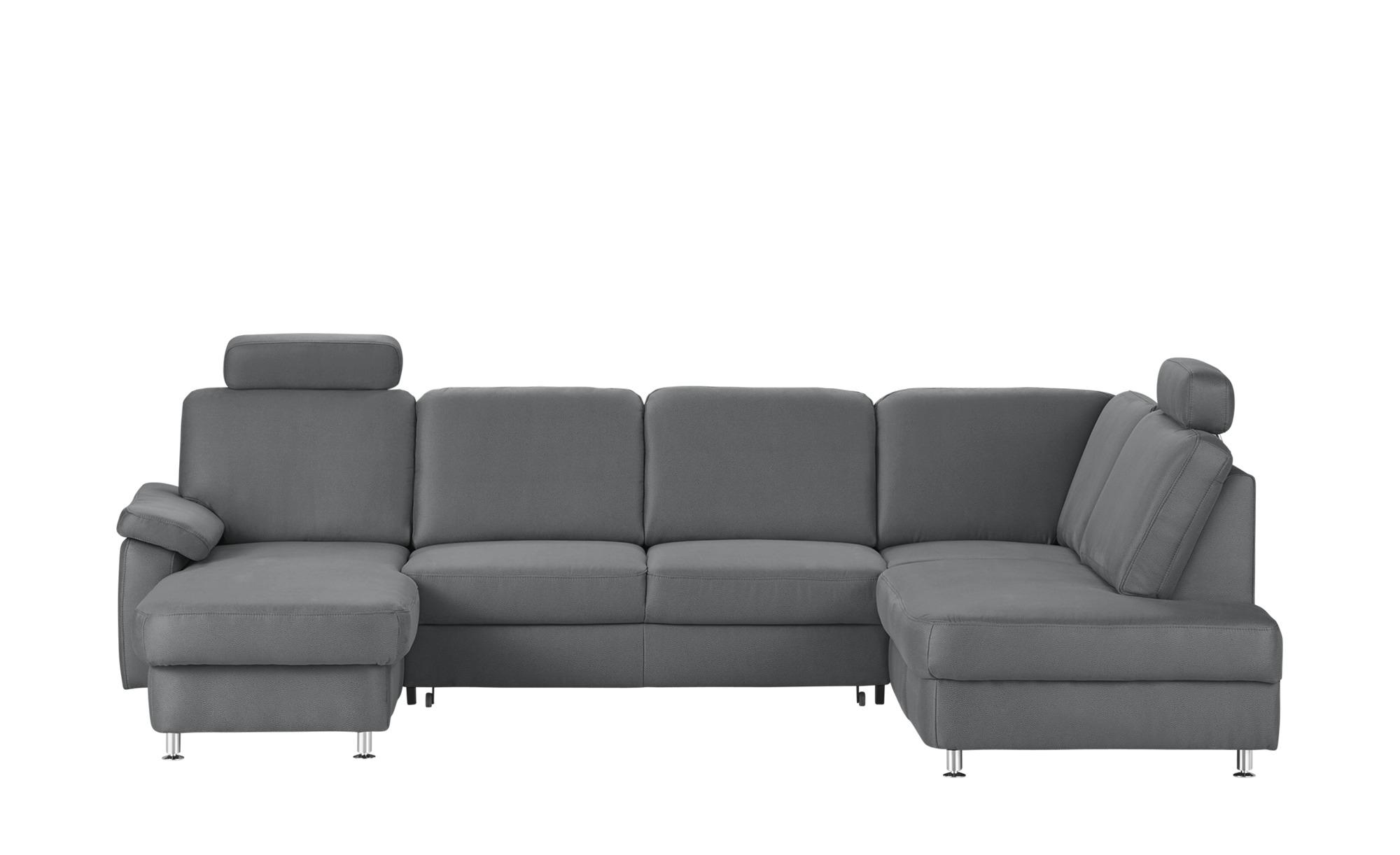 Meinsofa Wohnlandschaft Grau Mikrofaser Oliver S Sofa Couch