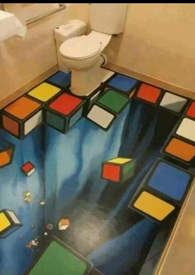 Rubix Cube Floor Floor Art Street Art 3d Street Art