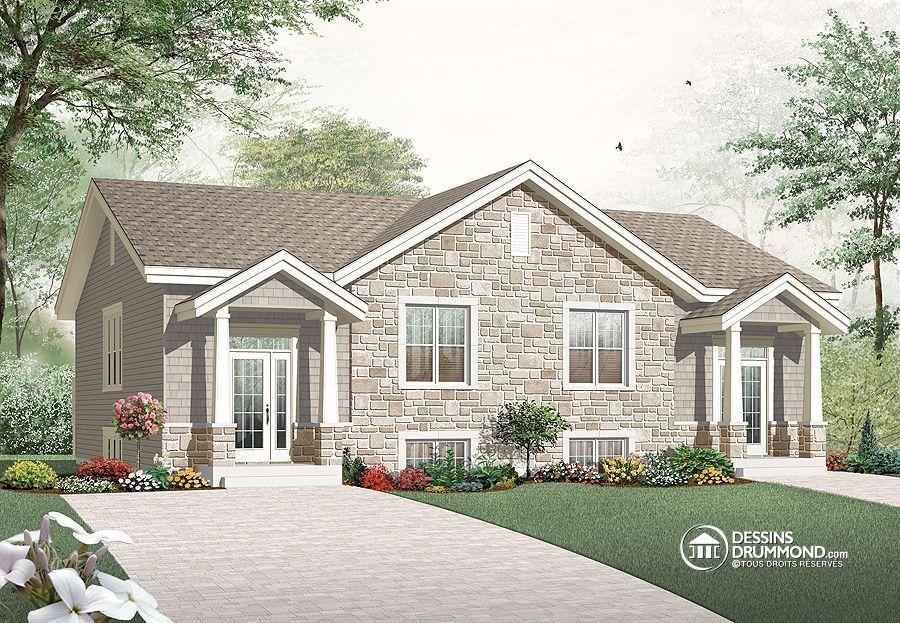 Plan de maison multi logements w3049 dessinsdrummond for Luxury duplex plans