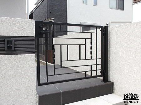Construction example: Gate No.1209[For custom-made wrought iron, go to Kenner Co., Ltd.]