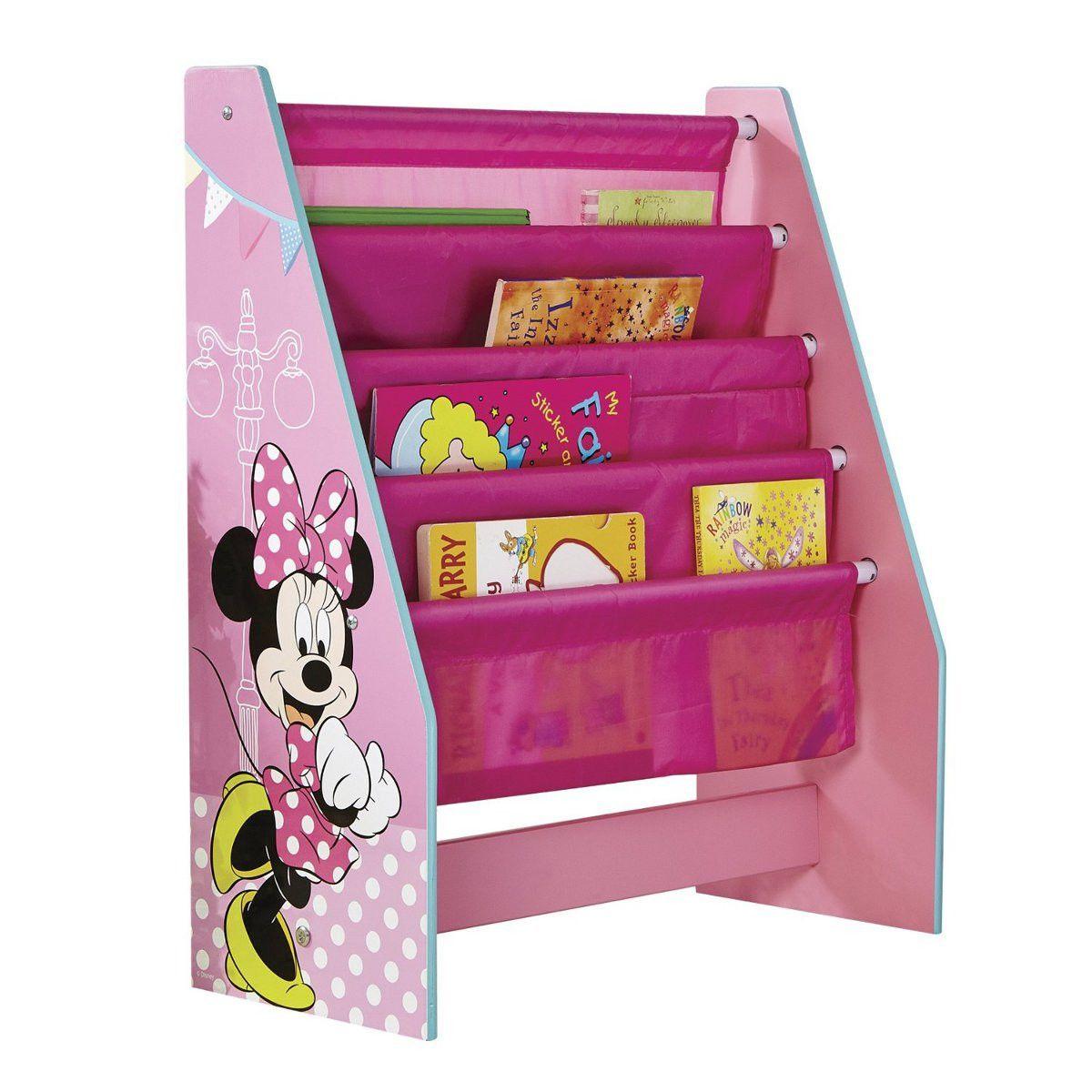 Meuble Range Livres Minnie Mouse De Disney En 2020 Meuble Rangement Enfant Rangement Enfant Meuble Rangement