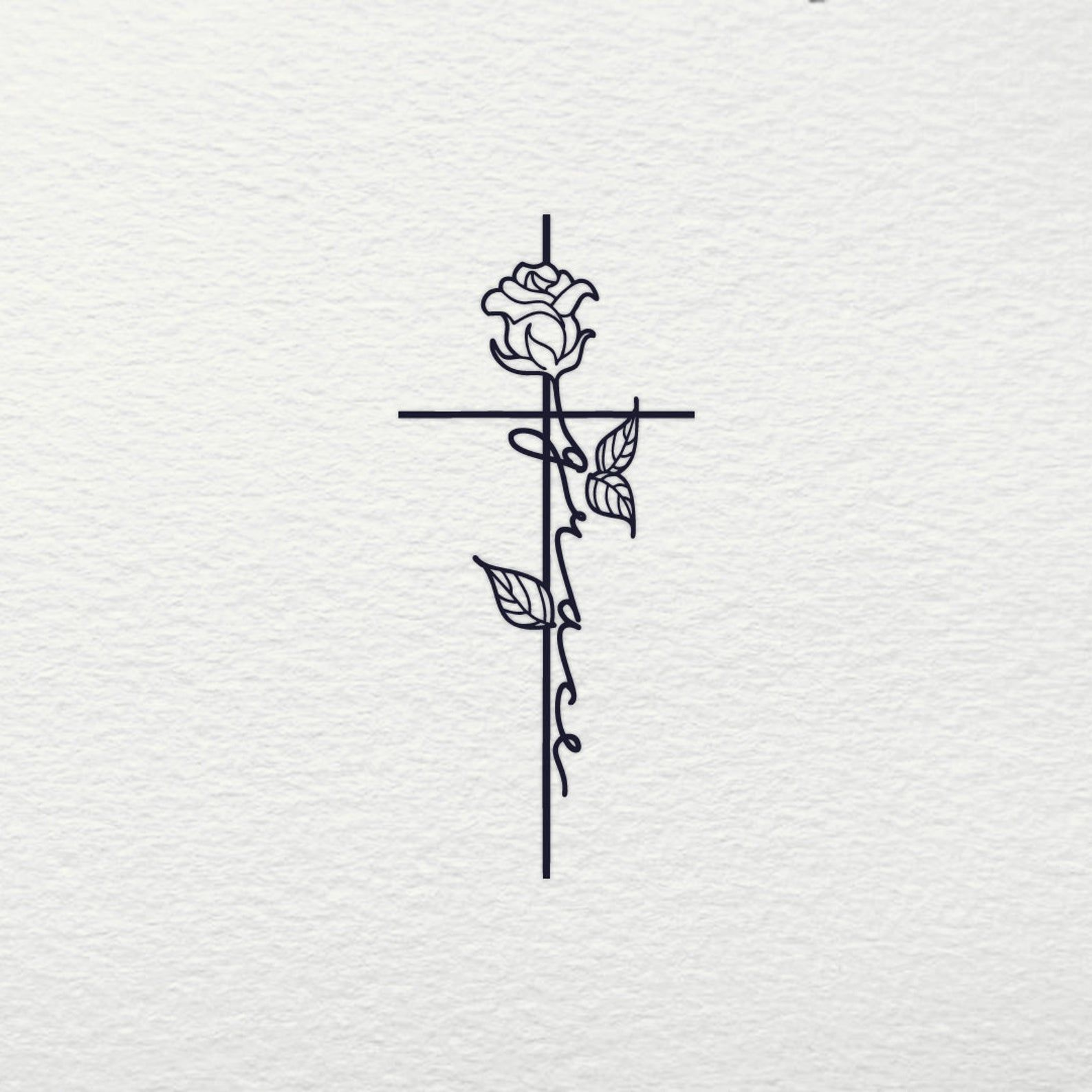 Grace Cross SVG - Cross SVG Rose Faith Jesus Cruci