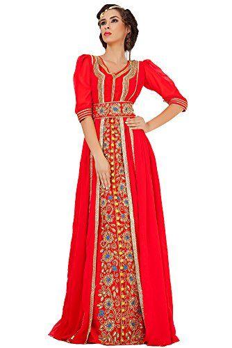 63755c080d Palas Fashion Women s Jacket Moroccan Wedding Caftan Dress Medium Red Palas  Fashion http
