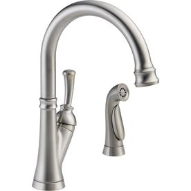 Delta Savile Stainless High Arc Kitchen Faucet With Side