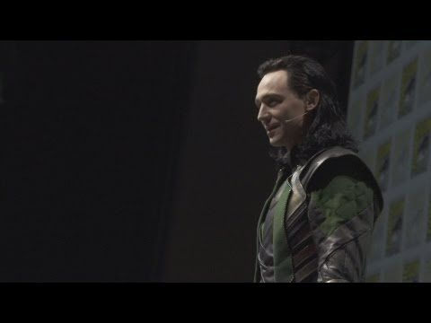 Watch his whole appearance here: | Tom Hiddleston's Appearance As Loki Drives Comic-Con Completely Insane