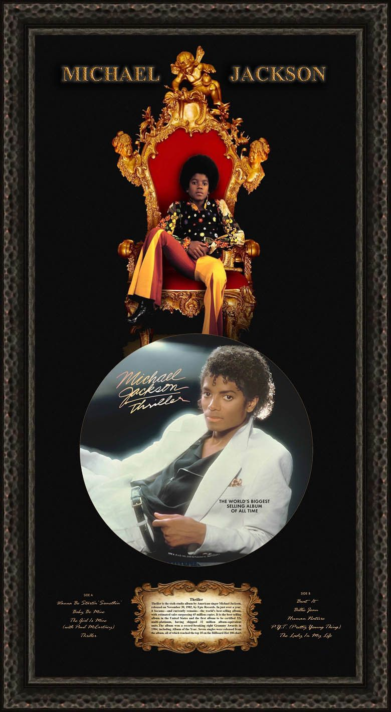 Michael Jackson 6th Studio Release Thriller Framed Movies By