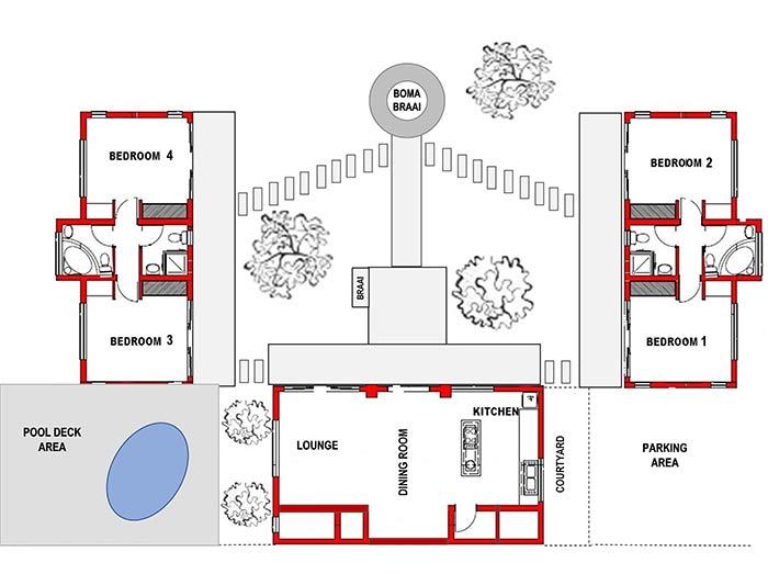 Woodlands Bush Lodge Floor Plan Floor Plans Lodge How To Plan