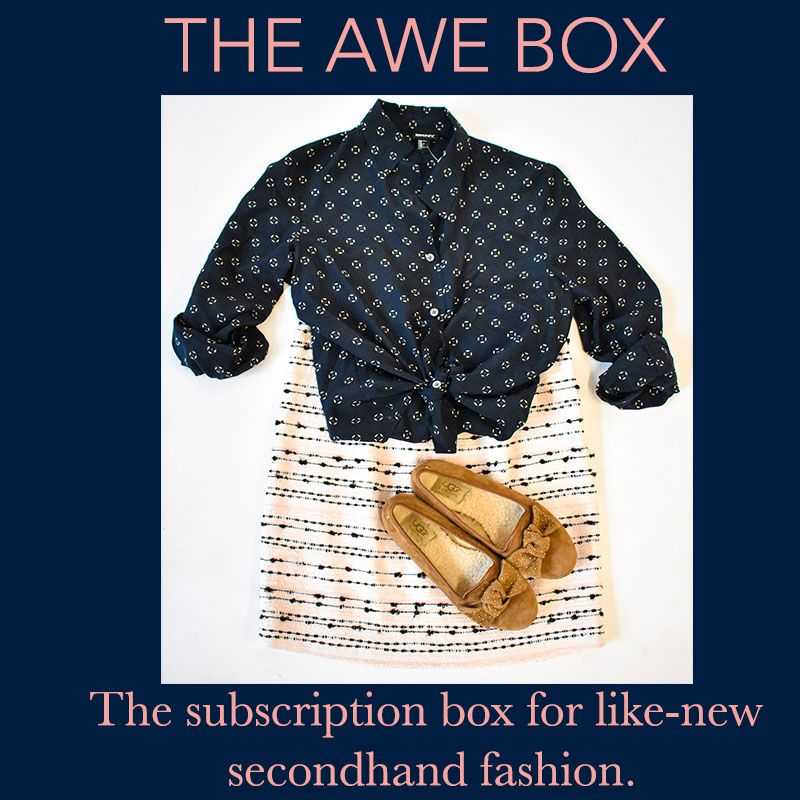 The Awe Box Is A Style Club And Subscription Box Service For Secondhand Clothes Womens Fashion Stores Womens Clothing Online Canada Clothing Subscription Boxes