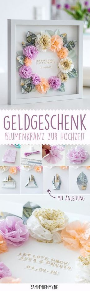 DIY Geschenkidee: Geldgeschenk für Hochzeit und Geburtstag