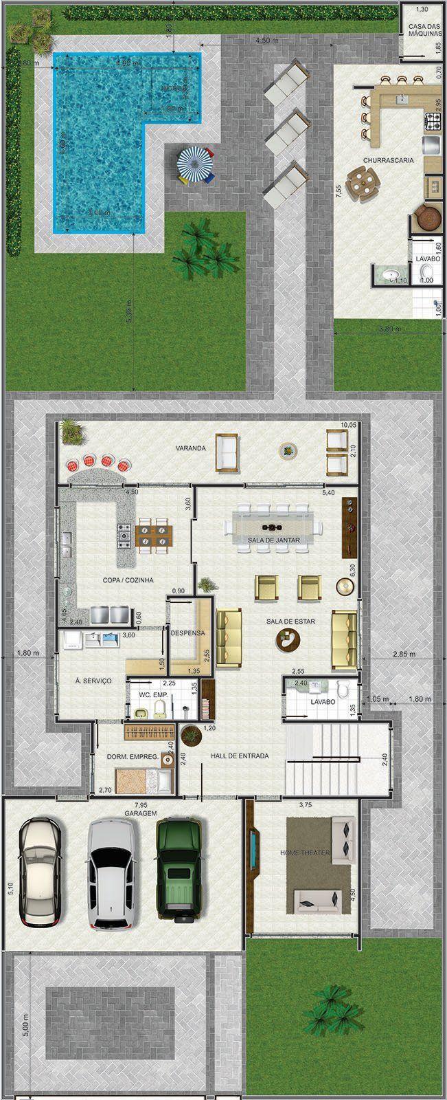 Planos y diseños de casa y jardín