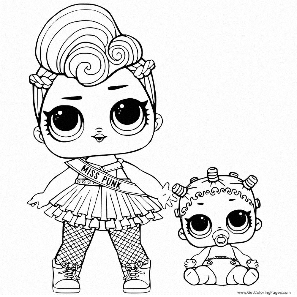 Раскраски куклы Лол | Раскраски, Бесплатные раскраски ...