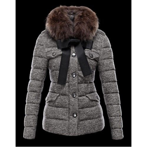Cheap Moncler Women Grey Sperm [ Moncler Women 2013 ] -Moncler Jackets  |Moncer Vest