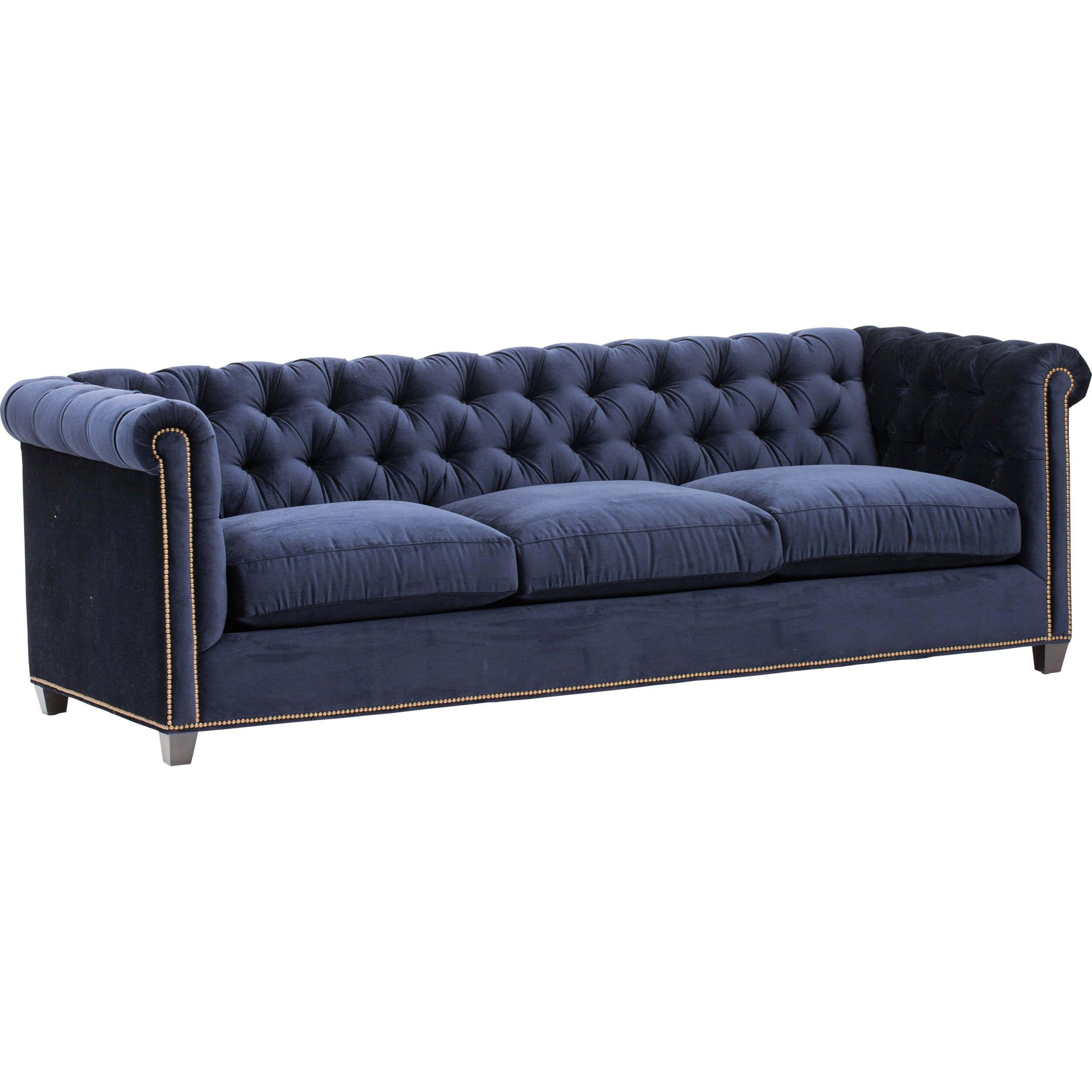 William Grand Sofa Vernon Navy Fabric Sofas Furniture