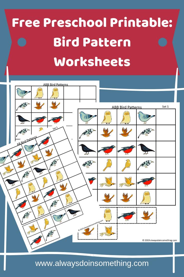 Free Preschool Printable Bird Pattern Worksheets Pattern Worksheet Free Preschool Free Preschool Printables [ 1102 x 735 Pixel ]