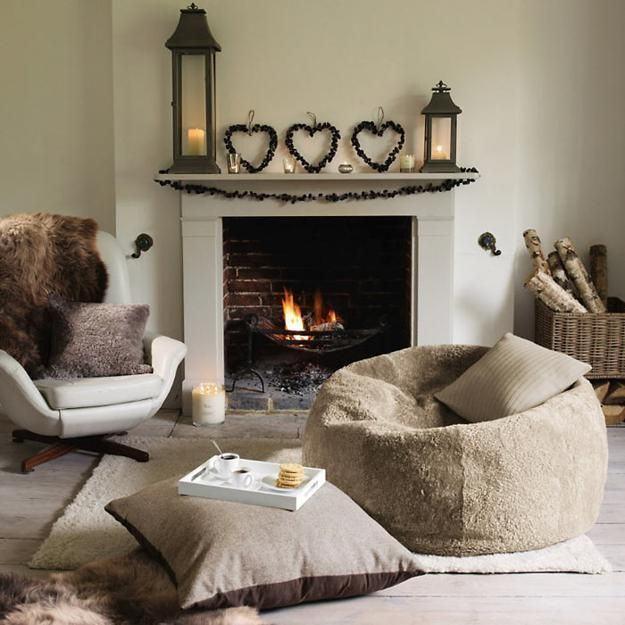 Winter Living Room Decorating: 20 Light Winter Decoration Ideas Creating Warm And Bright