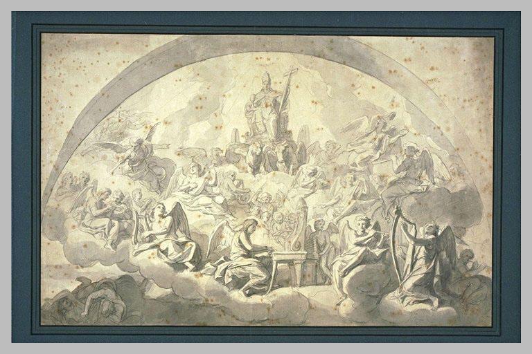 Charles Le Brun, El triunfo de la Iglesia.
