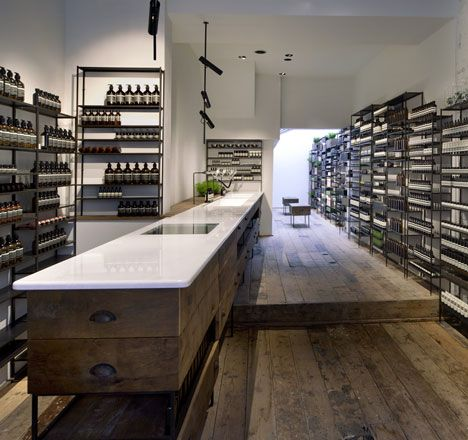 French designers Ciguë modelled this north London store for skin and haircare brand Aesop on a 1930s medical laboratory.