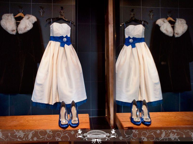 Vintage style custom dress created by Heidi Welk with blue