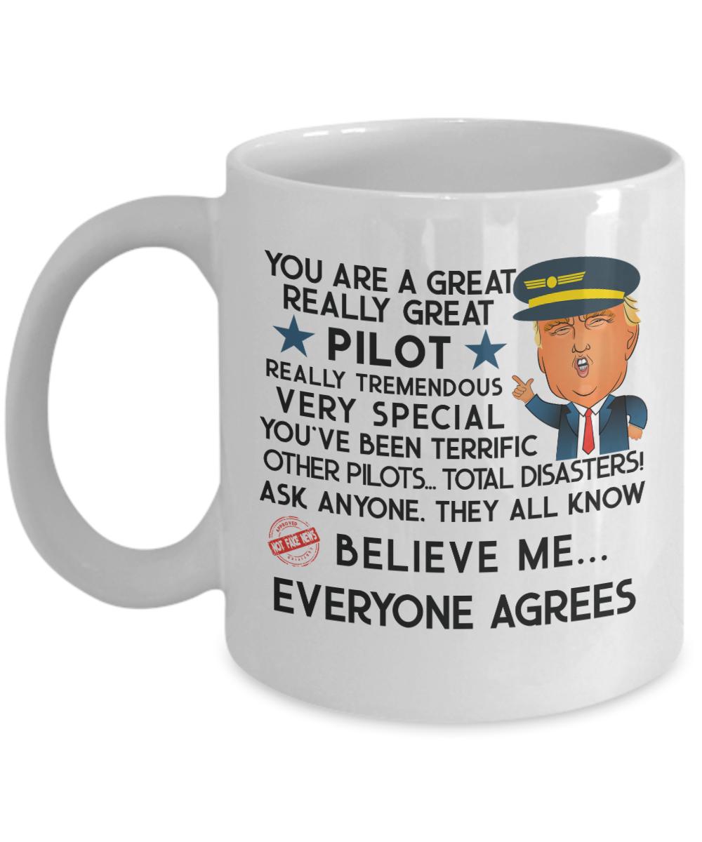 47c9d63975d Trump Gifts Trump Mug For Pilot - Trump Wearing Pilot Hat 🛬 Unique ...