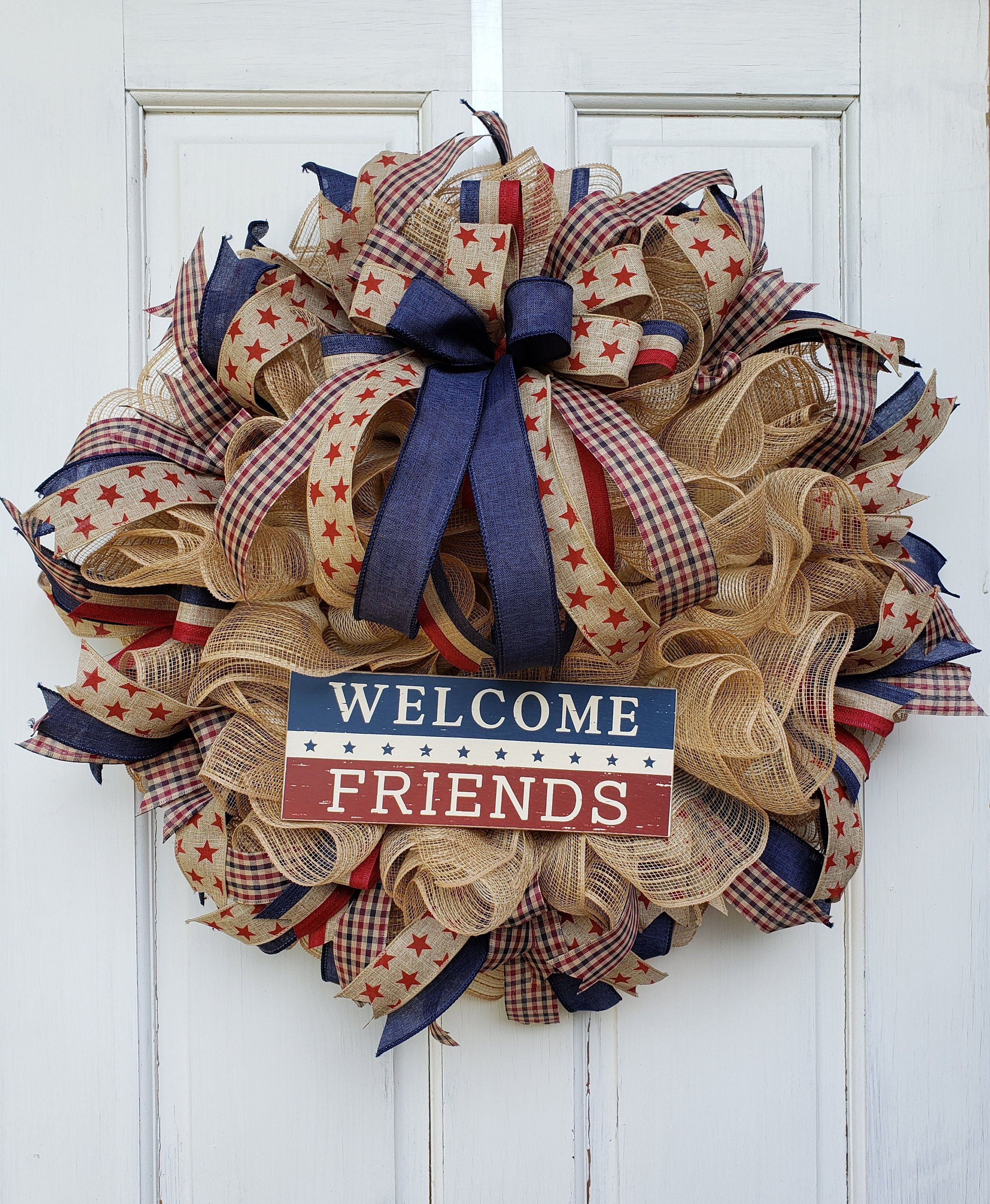 Christmas In July Entrada 2020 Pin by Nele Barlow on Door Design in 2020 | 4th of july wreath