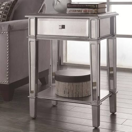 Charmant Mirror End Table