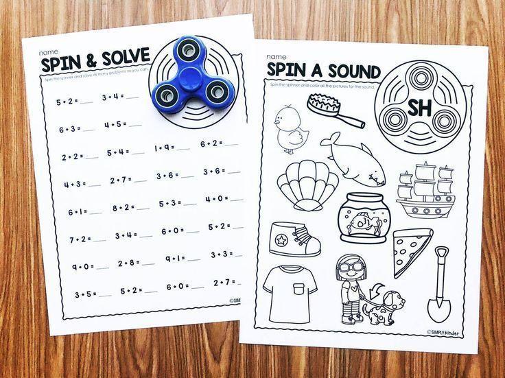 Fidget Spinner Activities For Kindergarten Simply Kinder
