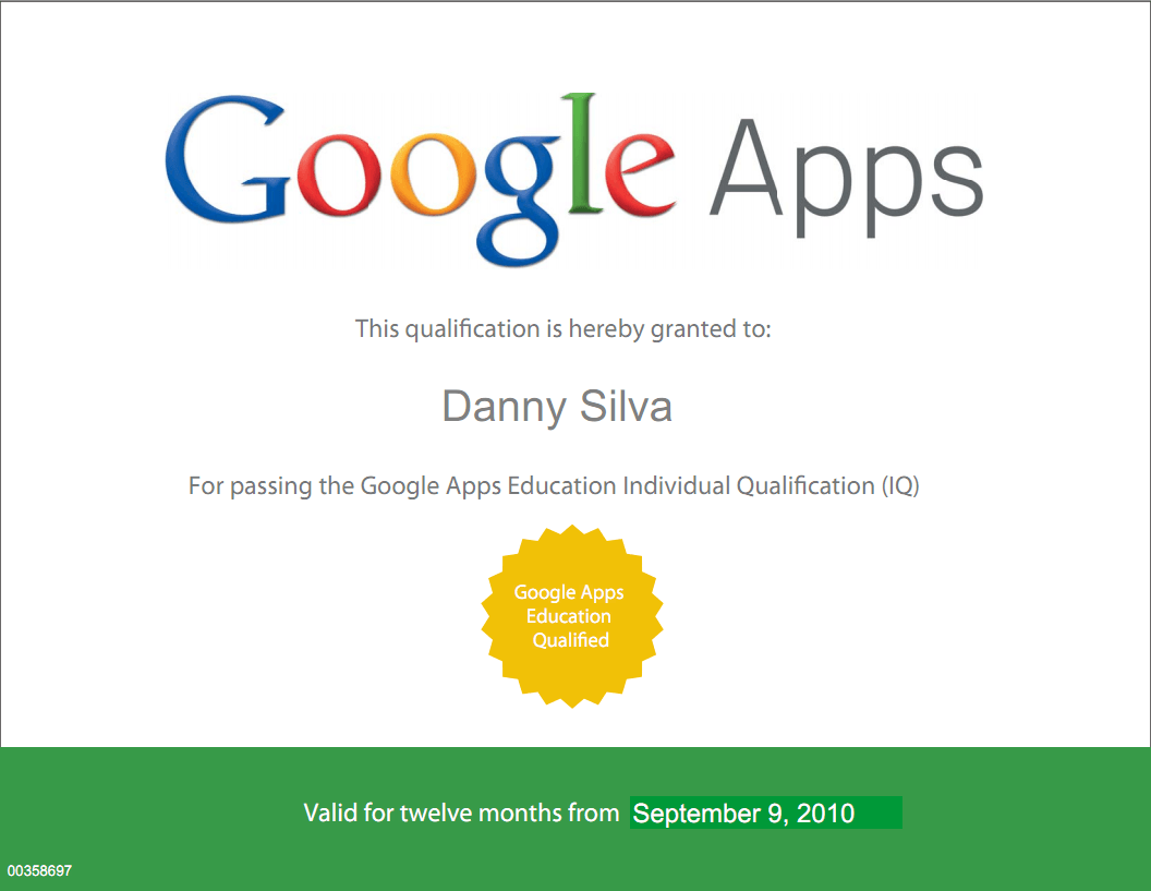 Google Apps Certificate | Content Design: eLearning Tips, Tools ...