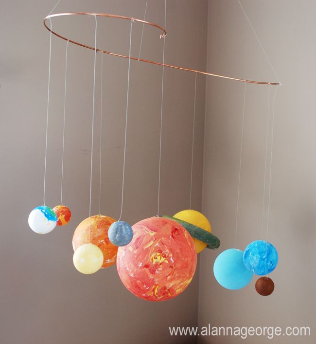 handmade solar system mobile - photo #13