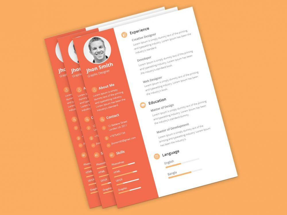 2020 Best 2 column Resume Template Free Download