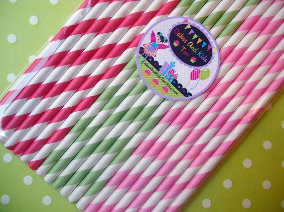 Strawberry Party :: straws