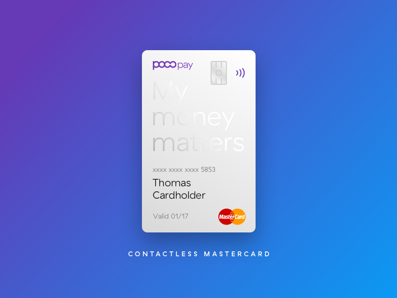 Contactless MasterCard | Credit card design and Business cards
