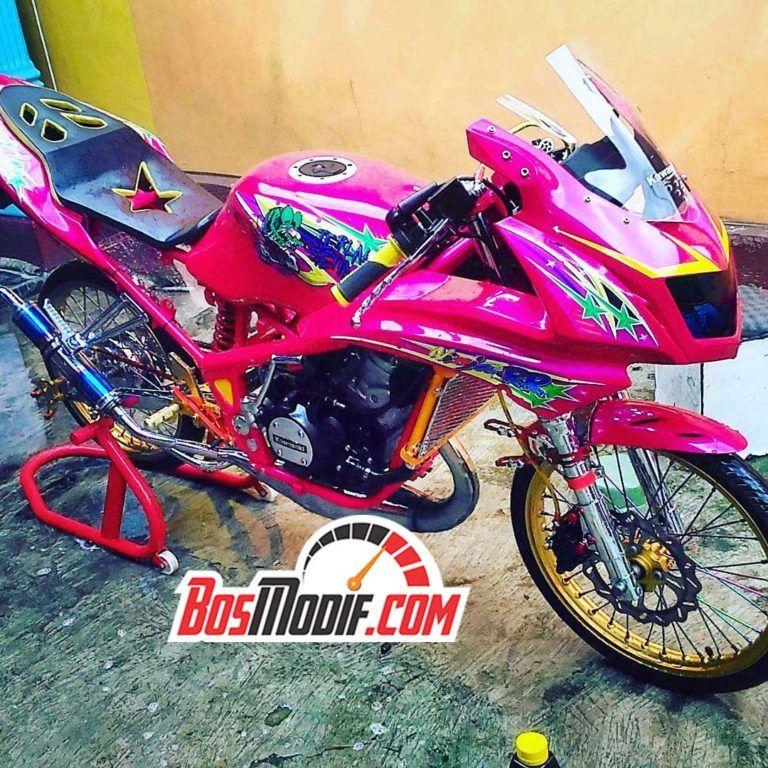 Modifikasi Motor Kawasaki Ninja Warna Pink