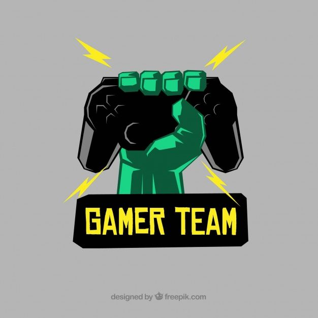 Download E-sports Team Logo Template With Hand Holding Joystick for free
