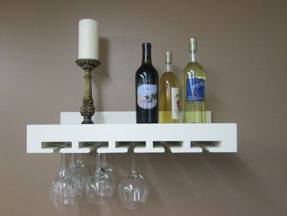 Wine Rack  Solid Painted Wood Shelf to Hold by LaurelWoodCottage,