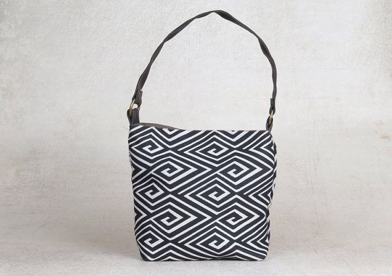 black and white black and white handbag tote small fabric tote bag shoulder bag tote bag Women/'s Fabric Shoulder Handbag fabric purse