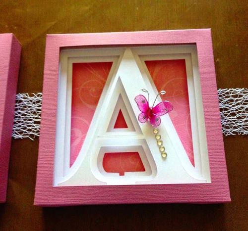 Alphabet Shadow Box Display 3dcuts Com Shadow Box Box Frames Shadow
