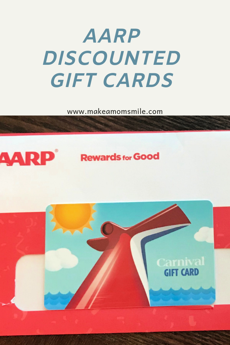 Aarp Discounted Gift Cards Aarp Discounts Carnival Gift Card