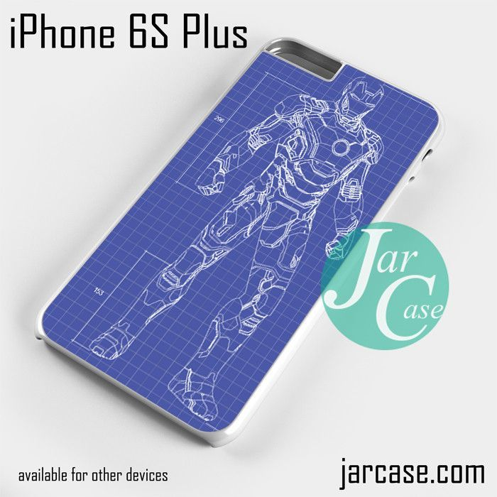 ironman blue print Phone case for iPhone 6S Plus and other iPhone devices