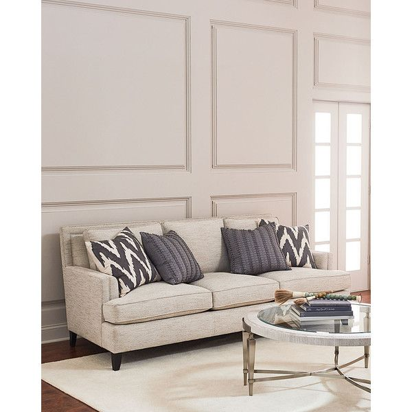 Bernhardt Madonna Sofa 2 099 Liked On Polyvore Featuring Home Furniture Sofas Light Tan Handmade Taupe Hand Made