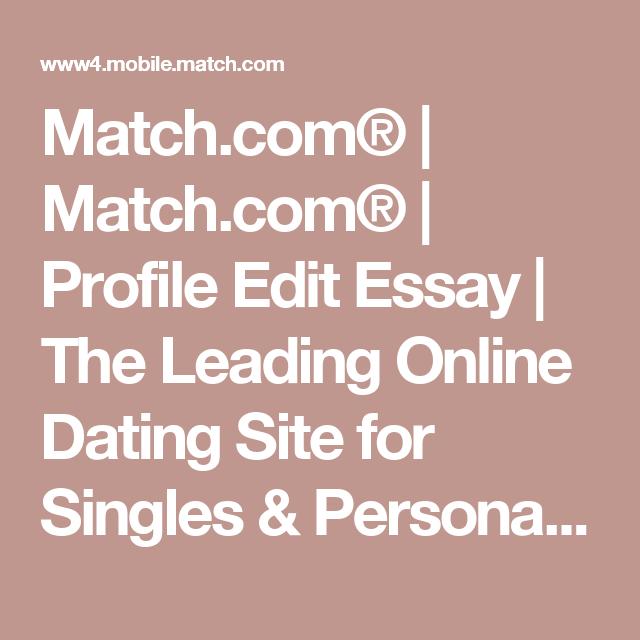 Online-dating-sites essay