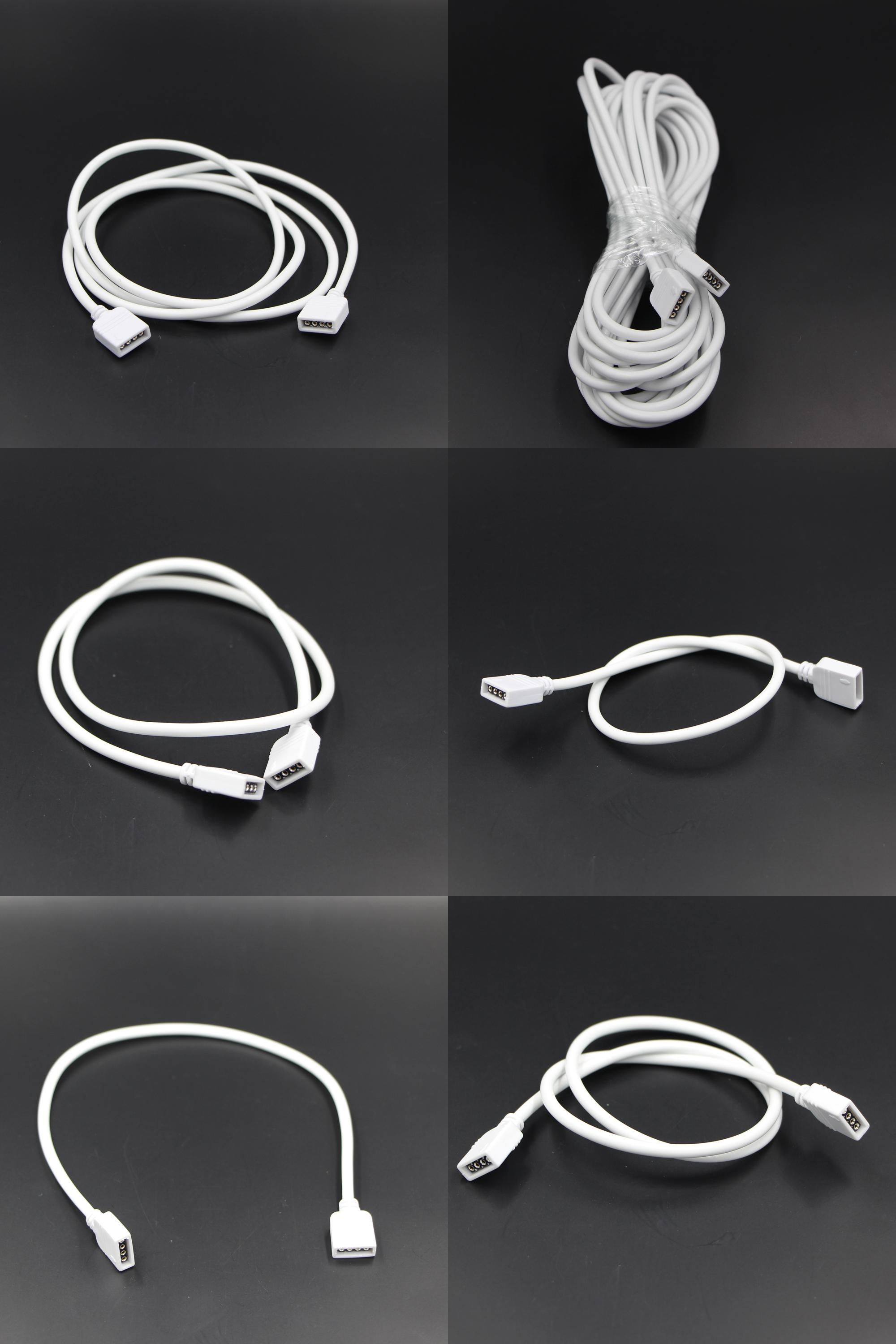 Visit to Buy] 4 PIN RGB led connector Extension Cable cord Wire + ...