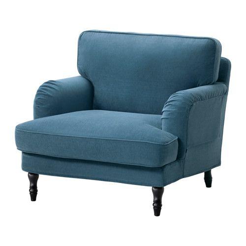 Stocksund Sessel Ljungen Blau Schwarz Holz Ikea Osterreich