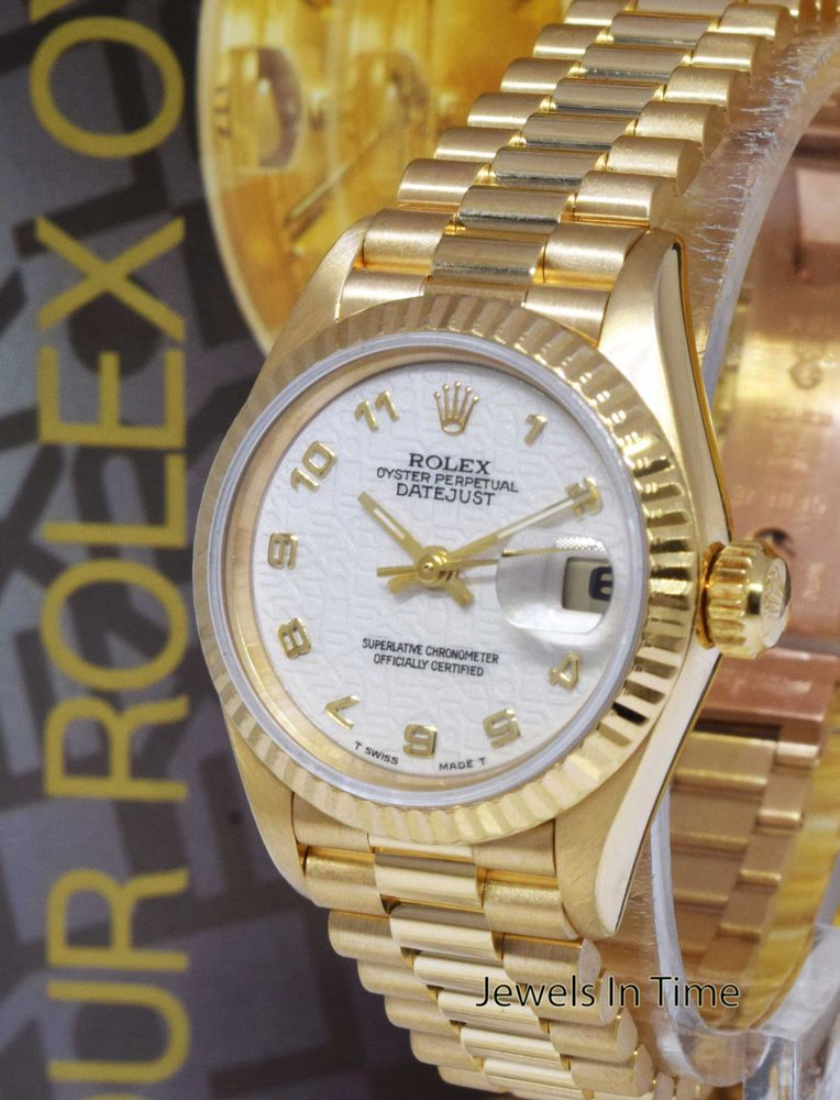 62d3f81525e4 Rolex Datejust President 18k Gold Jubilee Dial Ladies Watch Box Papers W  69178  rolex  ladieswatches  watchesforwomen
