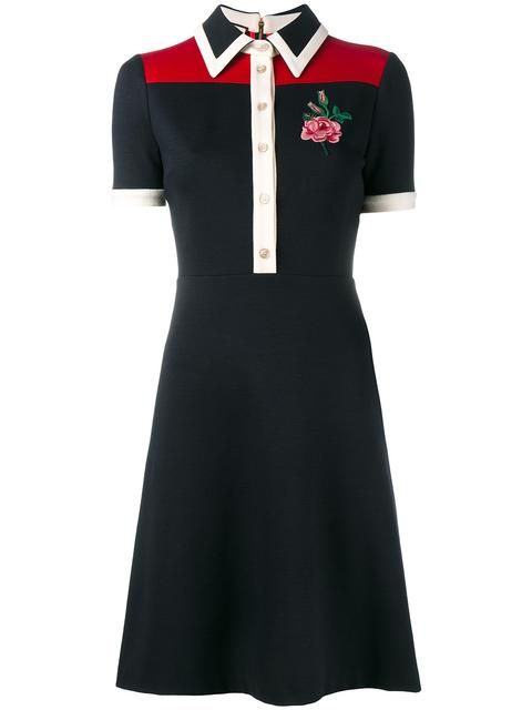 0f4c65d44a0 GUCCI rose embroidered polo dress.  gucci  cloth  dress