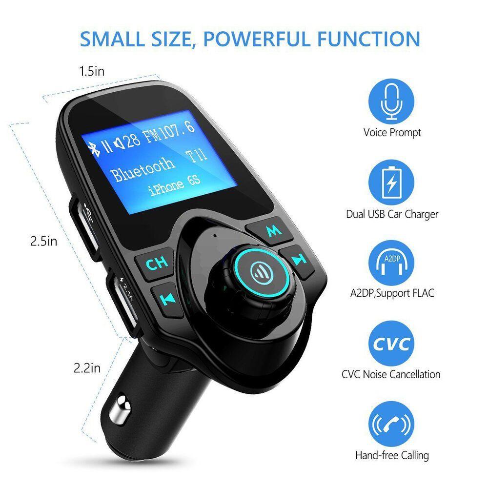 Auto Bluetooth FM Transmitter KFZ MP3 Musik Player QC3.0 USB Freisprechanlage