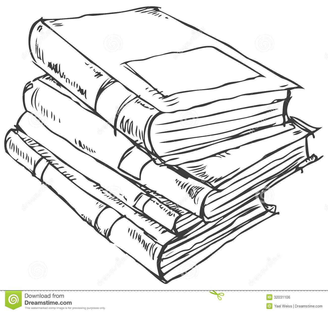stack of books outline | paint it, sketch it | pinterest | drawings