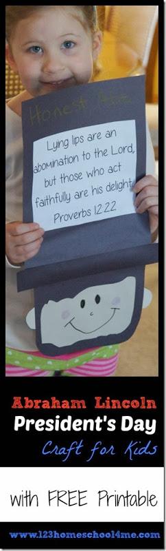 Abraham Lincoln Craft For Kids Abraham Lincoln For Kids